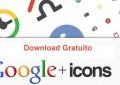 Icones de interface do Google Plus