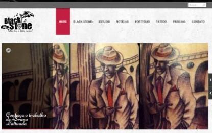 Estúdio Black Stone com novo Web Site Online incentivando a arte em Porto Alegre