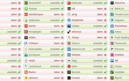"""Descubra se o seu """"user"""" está disponível em 157 redes sociais"""