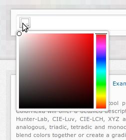 Escolha a cor desejada com o Color Picker