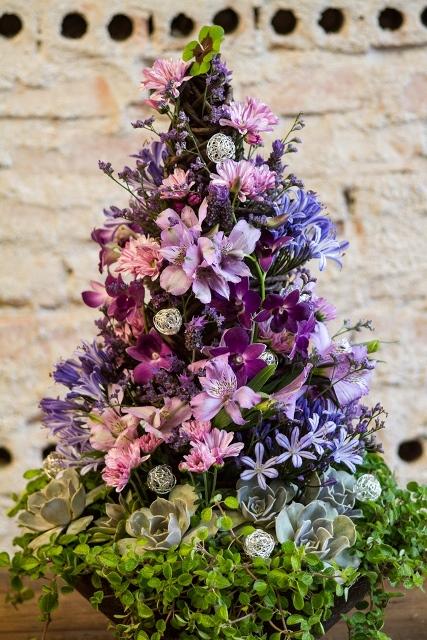 Agapanthus Floricultura - Natal 2013 - árvore dos desejos  violeta - foto Edna Froes_
