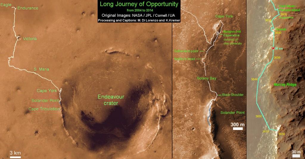 Opportunity-Route-map_Sol-3660_Ken-Kremer