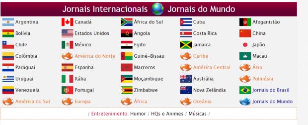 Guia de Mídia online de Jornais e Revistas online, Tvs e Rádios, Ssites de Cidades Turísticas do Brasil e Guia de Sites Brasileiro
